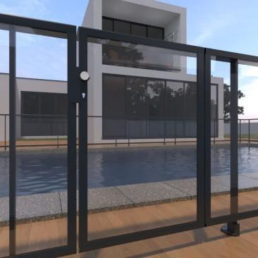 Puerta de piscina para...