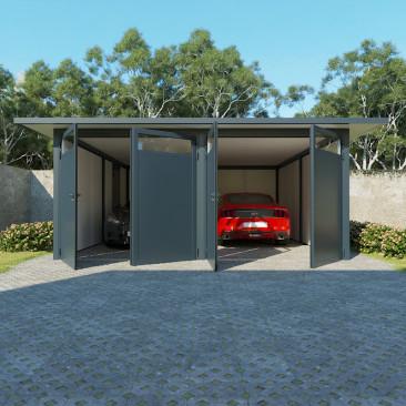 Garaje Tejado Plano para 2...