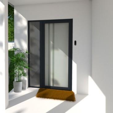 Puerta de entrada de vidrio...