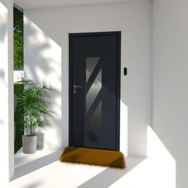 Puerta de entrada en acero...